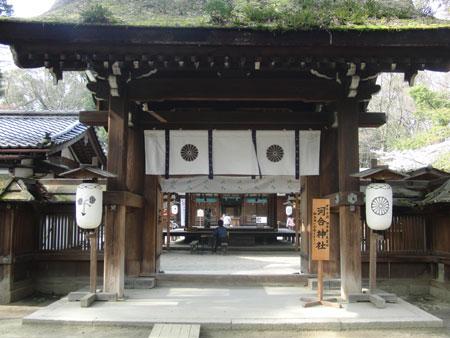 河合神社 門