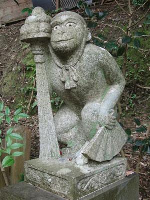 大豊神社 狛猿
