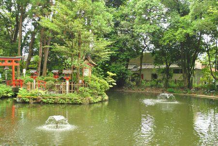 狭井神社 池
