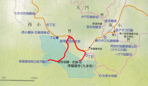 浄瑠璃寺 奥の院への道