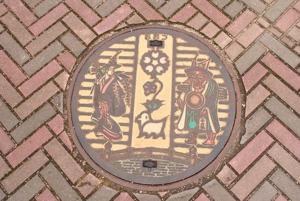 大津絵の道 マンホール