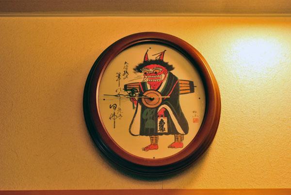 三井寺力餅 鬼の念仏時計