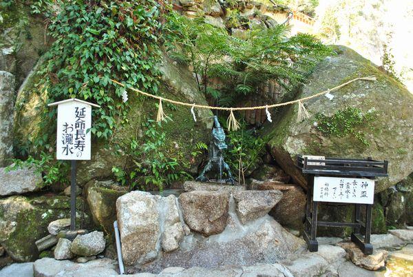 飛瀧神社 延命長寿のお瀧水
