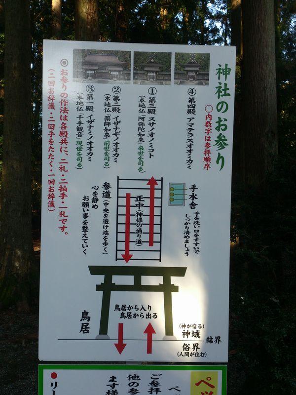 熊野本宮大社 看板