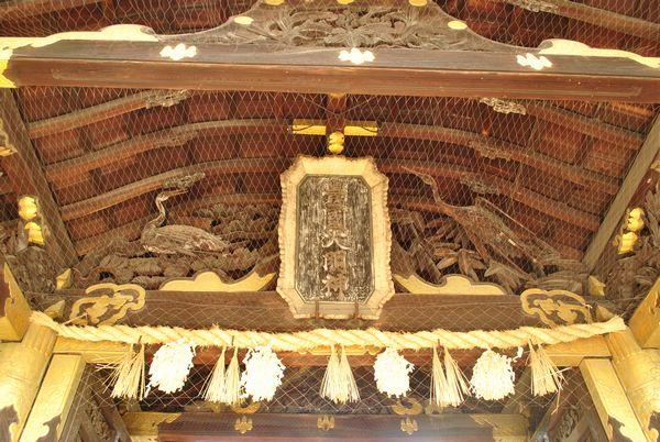 豊国神社 目無しの鶴