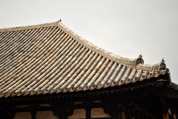 元興寺 屋根