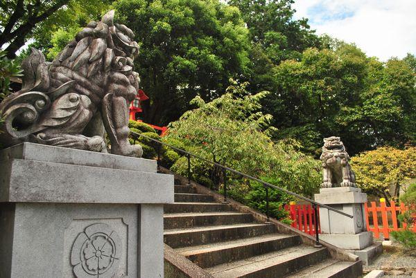 健勲神社 獅子と狛犬