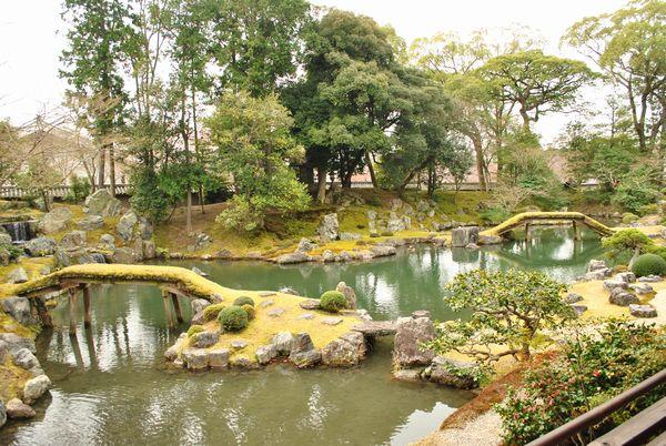 三宝院庭園 土橋
