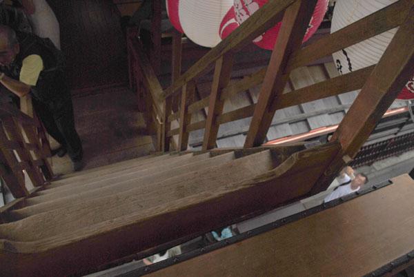 放下鉾 階段