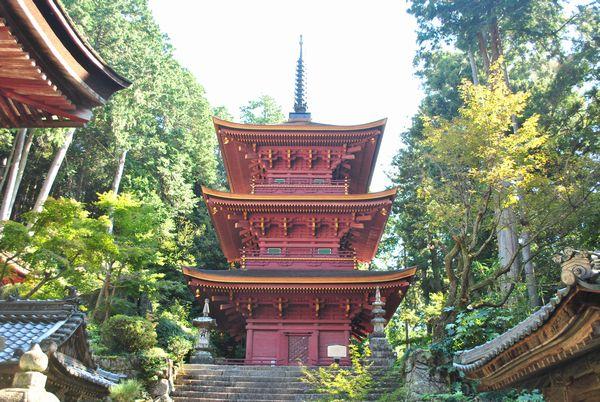 長命寺 三重塔