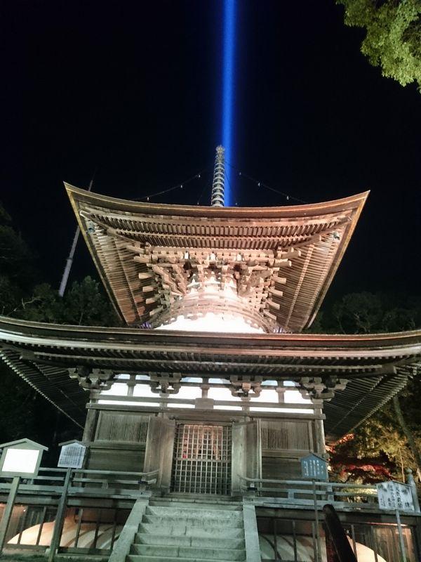 石山寺 多宝塔 ライトアップ