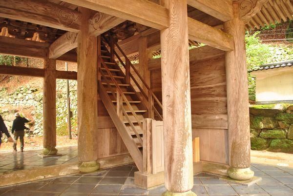 永源寺 三門 階段