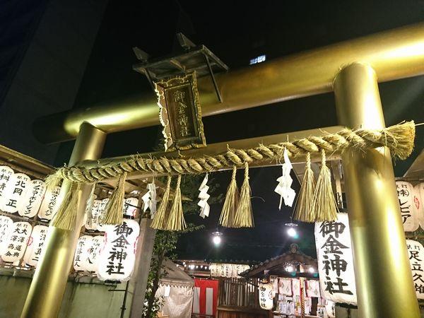 御金神社 夜 鳥居