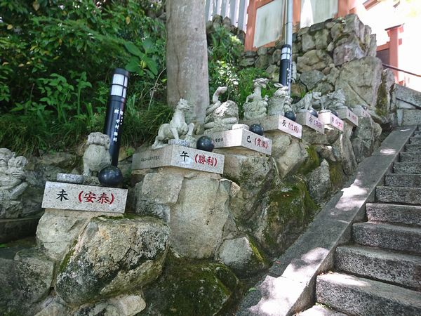 太郎坊宮 十二支の神像