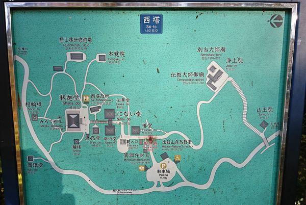 西塔 境内地図