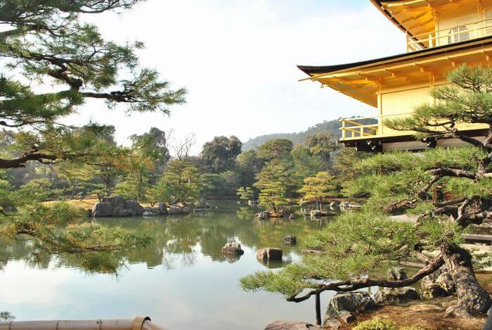 金閣寺 鏡湖池
