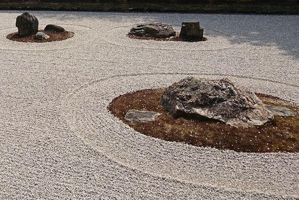 竜安寺 石庭 砂紋