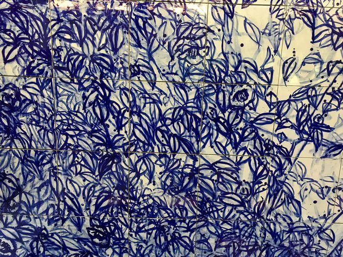 神椿 壁画のツバキ