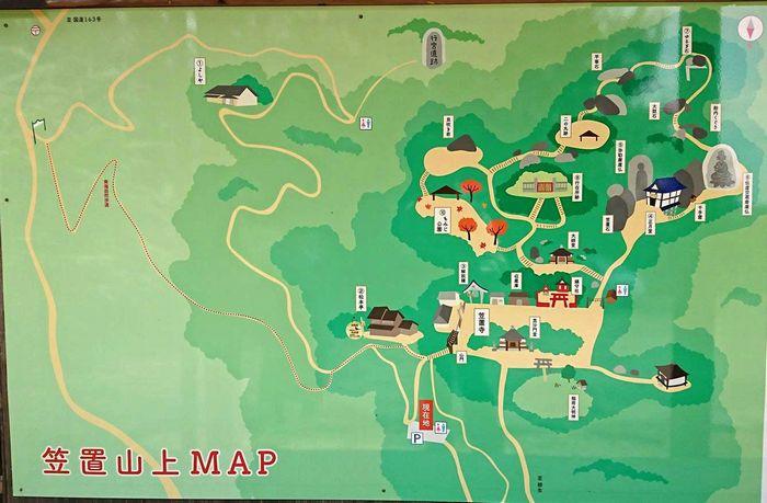 笠置寺境内MAP