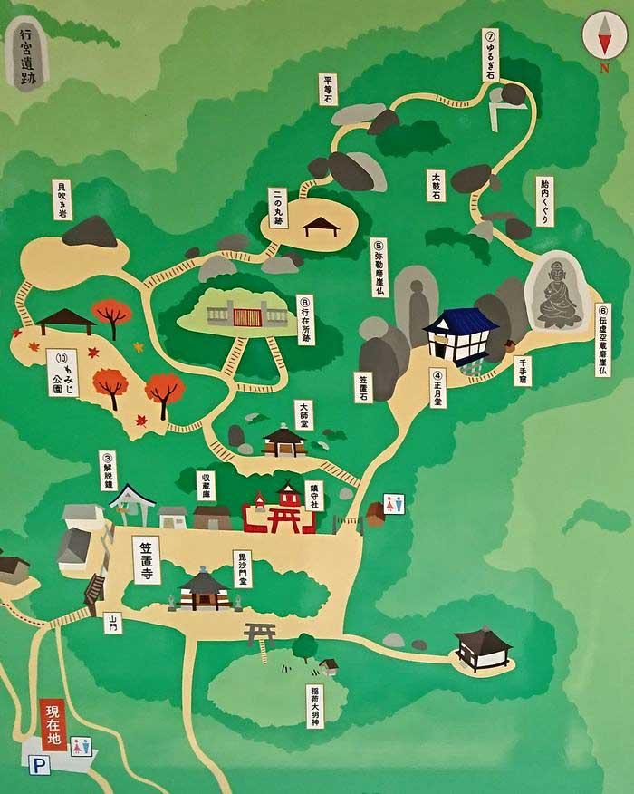 笠置寺 境内マップ