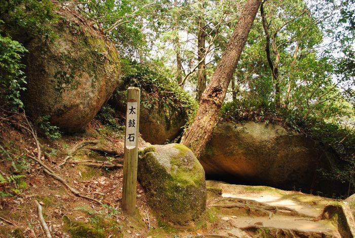 笠置寺 太鼓石