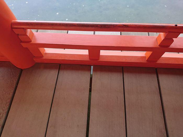 厳島神社 社殿 床板